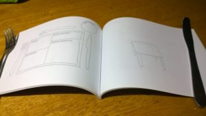 The book of tables is a book to capture your meal time entertaining
